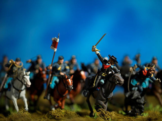 , 'History, Custer's Charge,' 2015, Julie Nester Gallery