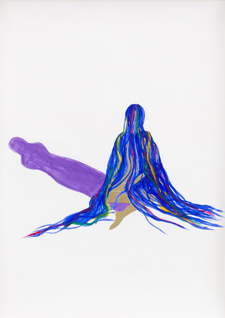 Grace Schwindt, 'Blue Ribbons and Purple Shadow', 2013, Zeno X Gallery