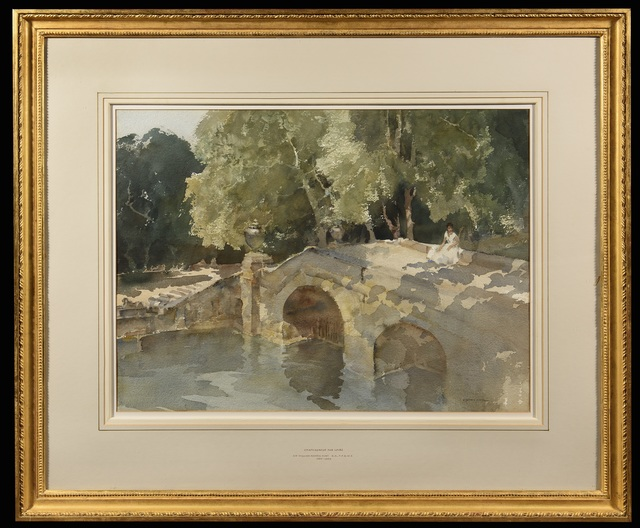 William Russell Flint, 'Chateauneuf sur Loire', 1963, Trinity House Paintings