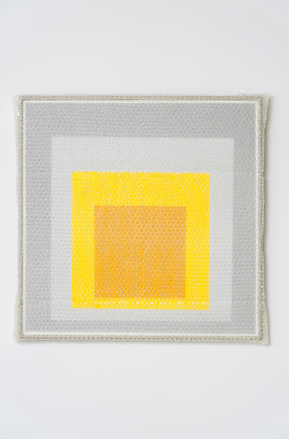 Tammi Campbell, 'Homage to the Square with Bubblewrap and Packing Tape', 2019, Anat Ebgi