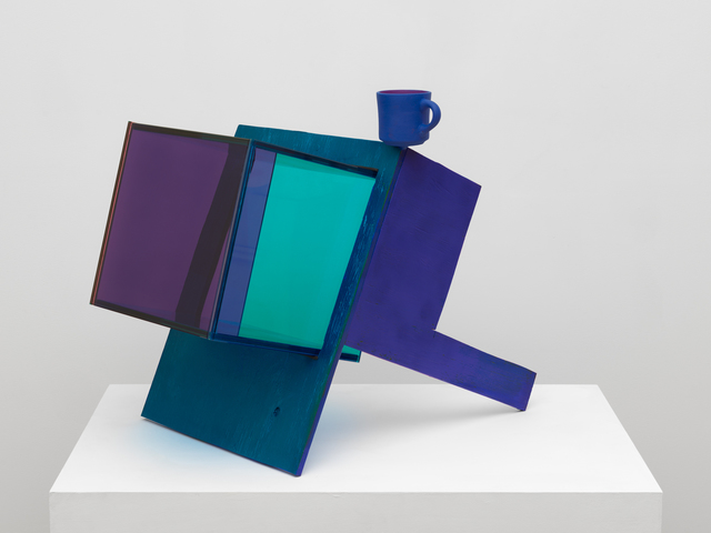 Sarah Braman, 'Blue Coffee', 2019, Sculpture, Painted aluminum and glass, Mitchell-Innes & Nash