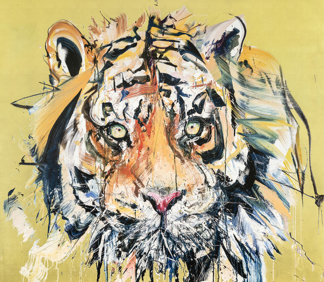 Dave White, 'Gold Leaf Tiger', 2017, Grenfell Tower: Benefit Auction