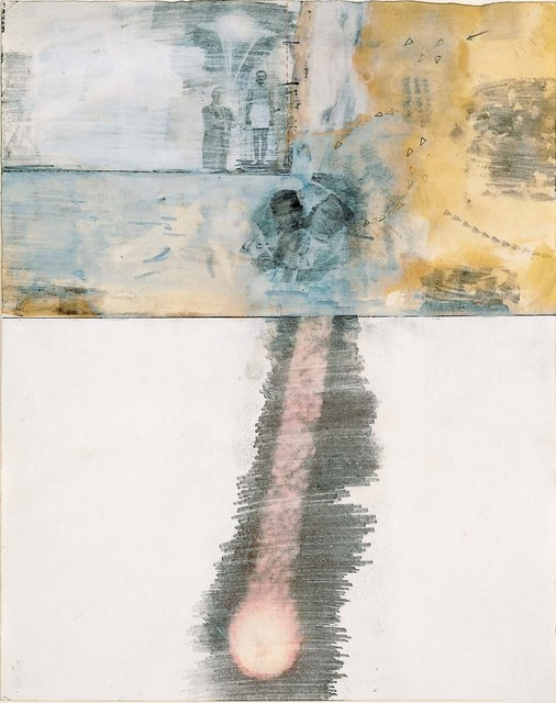 Robert Rauschenberg, 'Canto XVI: Circle Seven, Round 3, The Violent Against Nature and Art, from the series Thirty-Four Illustrations for Dante's Inferno', 1959–60, Robert Rauschenberg Foundation