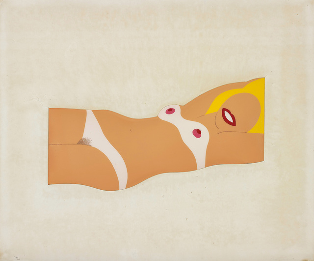 Tom Wesselmann, 'Cut-Out Nude, from 11 Pop Artists, Volume I', 1965, Print, Screenprint in colours, on formed vinyl with die-cut mat., Phillips