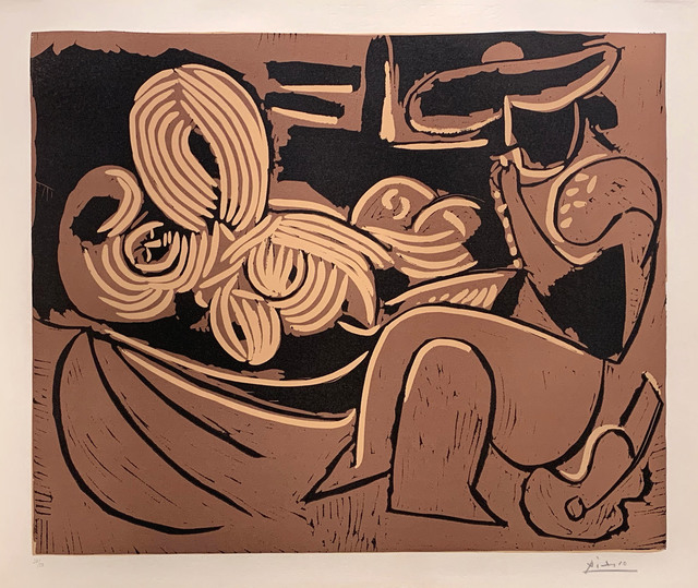 , 'Woman Laying Down and Man with a Guitar,' 1959, R. S. Johnson Fine Art