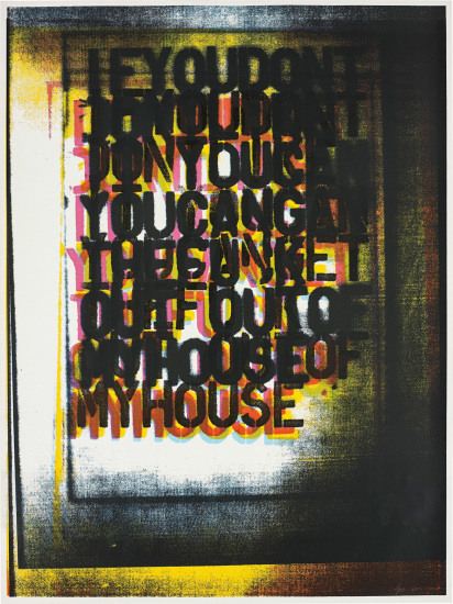Christopher Wool, 'My House I', 2000, Maddox Gallery