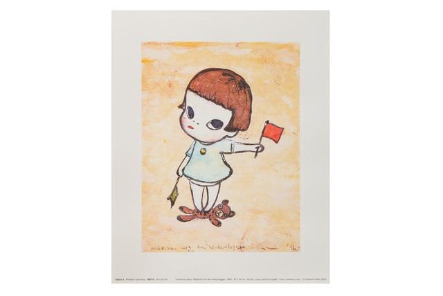 Yoshitomo Nara, 'Mädchen mit den Winkerflaggen', 2002, Print, Print, Chiswick Auctions
