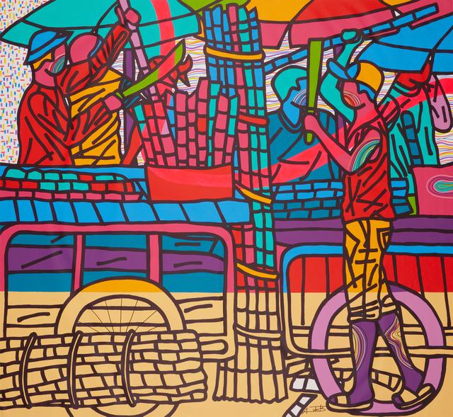 Ajarb Bernard Ategwa, 'Morning sugarcanes 2', 2019, Jack Bell Gallery