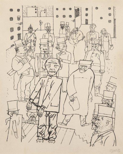 George Grosz, 'Kein Hahn kräht nach ihnen (Nobody Cares about Them)', 1920, Heritage Auctions