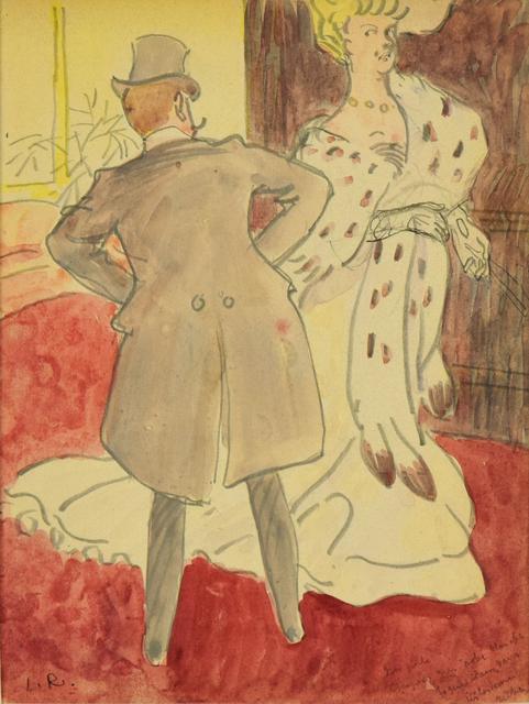 Ludovic-Rodo Pissarro, 'At the Ball', Executed circa 1905, Stern Pissarro