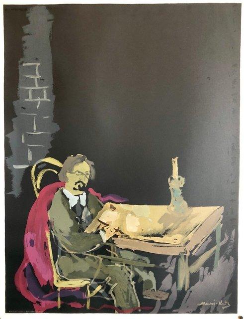 Mané-Katz, ' Russian French Judaica Jewish Writer Sholem Aleichem Lithograph Mourlot Paris', 1960-1969, Lions Gallery
