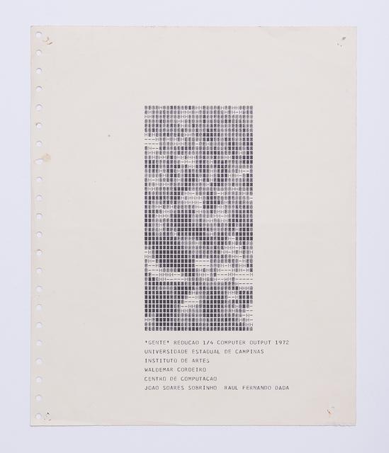 , 'Gente Redução 1/4,' 1972, Luciana Brito Galeria
