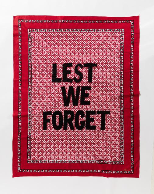 , 'Lest we Forget,' 2017, Afronova