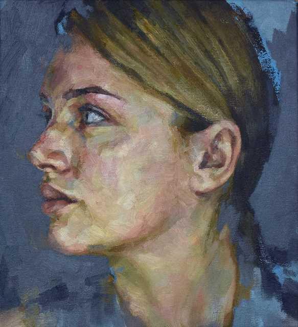 , 'Woman In Profile,' 2018, Reuben Colley Fine Art