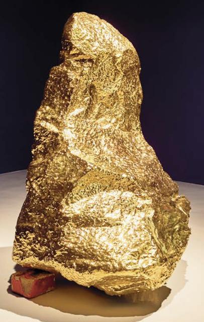 Bosco Sodi, 'gold volcanic rock ', 2015, Sculpture, Ceramic glaze over volcanic rock, MESTRE PROJECTS