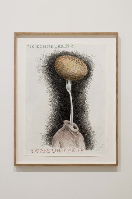 Peter Land, 'Die dumme Dänen 2', 2020, Drawing, Collage or other Work on Paper, Coloured pencil, crayon and watercolour on paper, KETELEER GALLERY