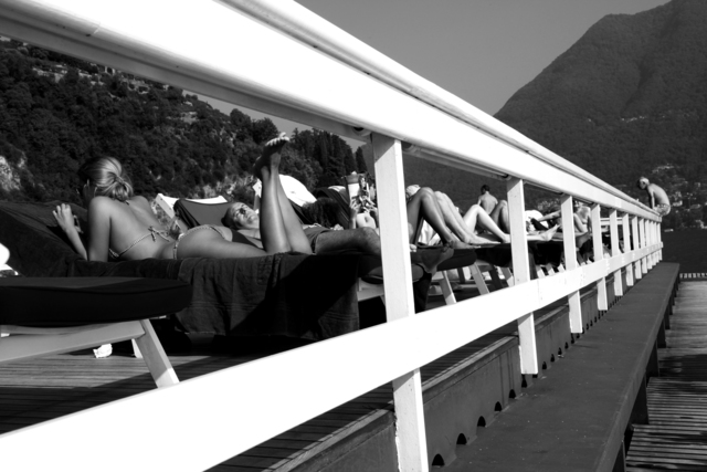 , 'Holiday at the floating pool, Villa d'Este, Lake Como, Italy,' 2011, Suite 59 Gallery