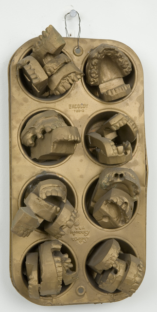 May Wilson, 'Untitled (bronze muffin pan with dental molds)', n.d., Pavel Zoubok Fine Art