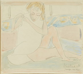 Untitled (Young Girl in White Chemise)