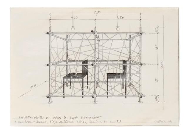 , 'Anteproyecto de arquitectura represiva,' 1973, Henrique Faria Fine Art