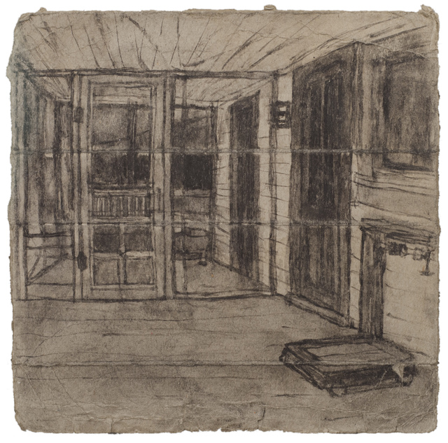 , 'Untitled ( Porch with scale; verso: landscape),' n.d., Fleisher/Ollman