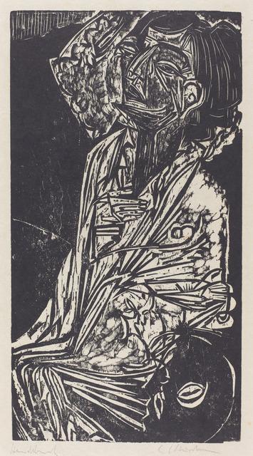 Ernst Ludwig Kirchner, 'The Wife of Professor Goldstein (Frau Professor Goldstein)', 1916, National Gallery of Art, Washington, D.C.