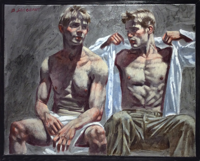 , 'Two Seated Men,' , Carrie Haddad Gallery