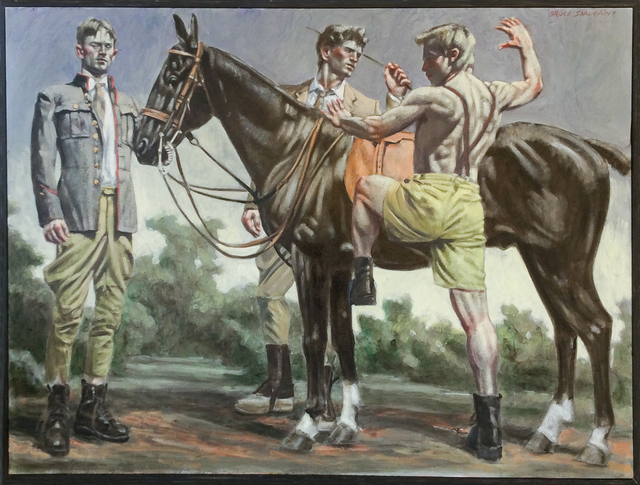 , 'Equestrians with Black Horse,' , Carrie Haddad Gallery