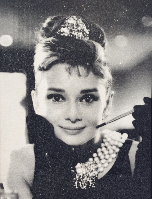 Russell Young, 'Audrey Hepburn, Black & White', 2018, Art Angels