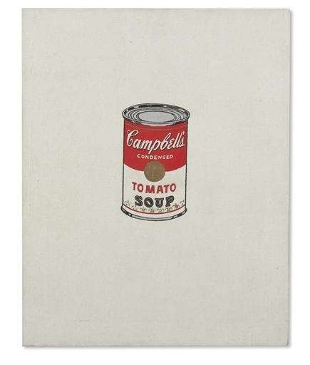 Andy Warhol, 'Small Campbell's Soup Can (Tomato) [Ferus Type]', Christie's