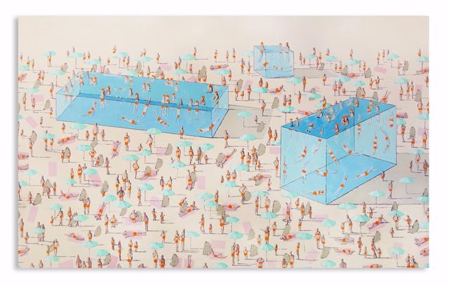 Eddie K., 'Pools L 61-63', 2020, Painting, Oil on canvas, Uprise Art