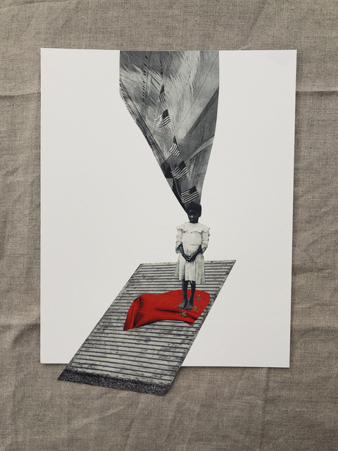 Christa David, 'my country, my country, she wailed.', 2020, Drawing, Collage or other Work on Paper, Collage on paper, Dominique Gallery
