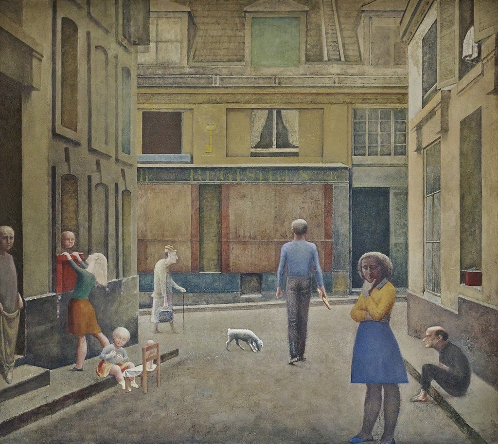Balthus, Passage du Commerce-Saint-André, Oil on canvas, 294 x 330 cm, Private Collection © Balthus , Photo: Mark Niedermann