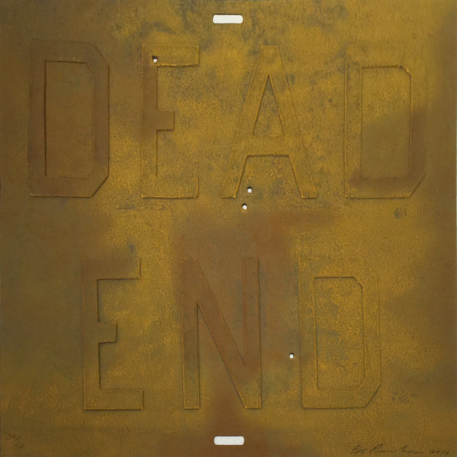 Ed Ruscha, 'Rusty Signs – Dead End 3', 2014, Jonathan Novak Contemporary Art