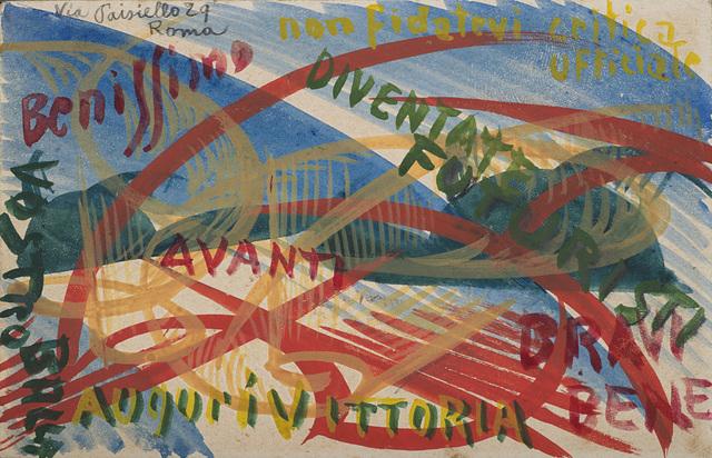 Giacomo Balla, 'Diventate Futuristi', 1914, Il Ponte