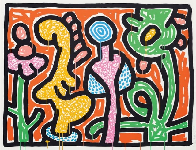 Keith Haring, 'Flowers IV (Orange) ', 1990, michael lisi / contemporary art
