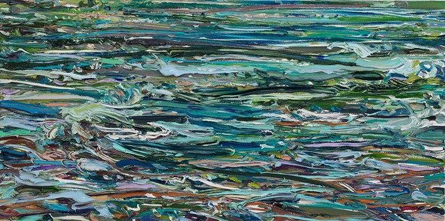 Lilian Garcia-Roig, 'Cumulative Nature: Water Flows #2', 2019, Painting, Oil on canvas, Valley House Gallery & Sculpture Garden