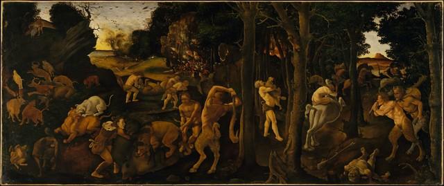 Piero di Cosimo, 'A Hunting Scene', ca. 1494–1500, The Metropolitan Museum of Art