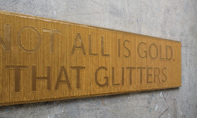 , 'Not All Is Gold, That Glitters,' 2013, Ani Molnár Gallery