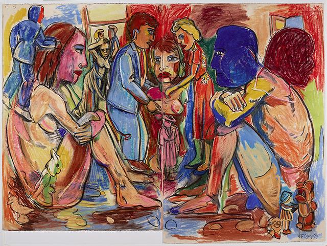 """Viola Frey, '""""Western Civilization Diptych #1"""" ', 1997, James Harris Gallery"""