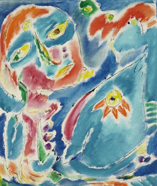 , 'Blå hest med Stjerne øje,' 1981, DIE GALERIE