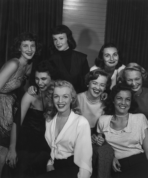 , 'Group of Starlets and Marilyn Monroe,' 1949-printed later, Scott Nichols Gallery