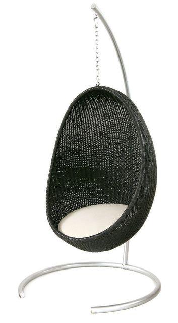 Nanna Ditzel, 'An egg-shaped black rattan hanging chair', Sworders