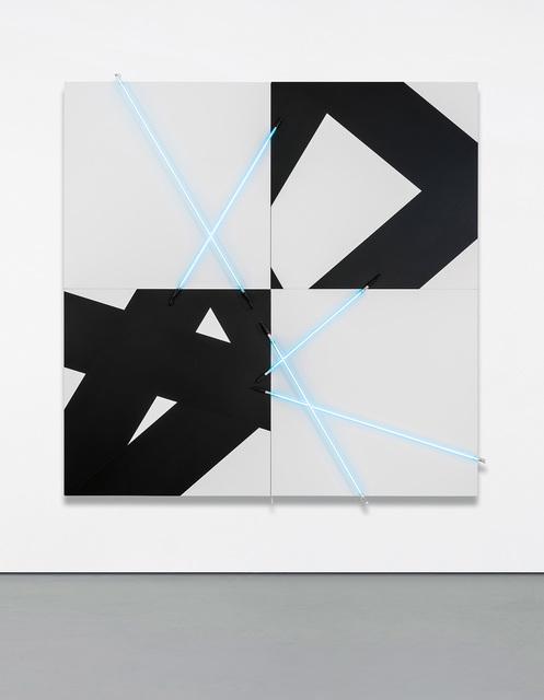 François Morellet, '5 lignes au hasard (π) en peinture et en néon no 3', 2005, Phillips