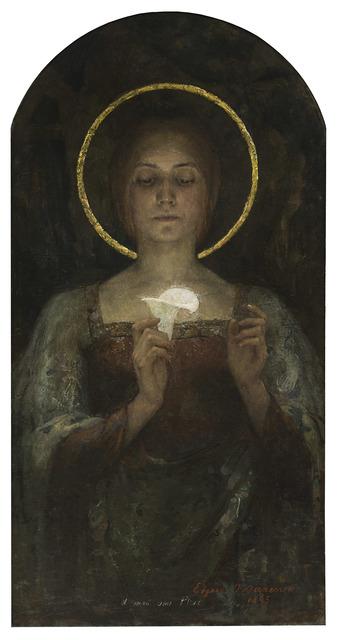 , 'Pureté (Purity) or Saint with Calla Lily,' 1895, Jack Kilgore & Co.