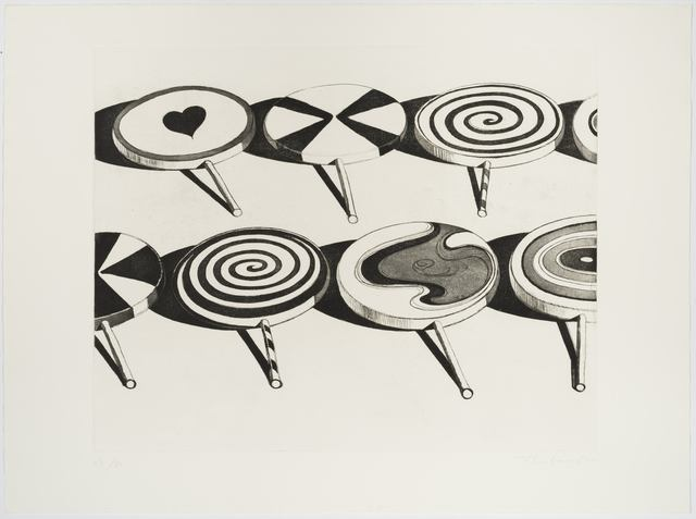 , 'Black Suckers (from Seven Still Lifes and a Silver Landscape),' 1971, Allan Stone Projects