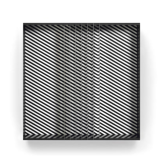 Julio Le Parc, 'Relief 13', 1970, Sculpture, Aluminium box multiple with screenprint in black and white, with the original perspex lid, ARCHEUS/POST-MODERN Gallery Auction