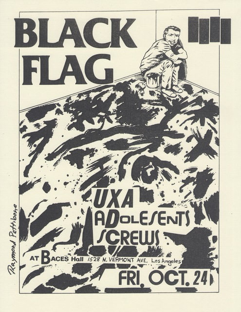 , 'Flyers for Black Flag,' ca. 1980, Cantor Fitzgerald Gallery, Haverford College