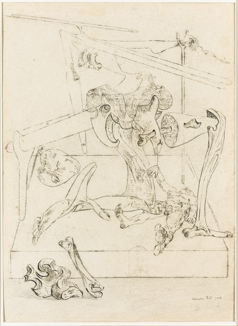 Salvador Dalí, 'Study for Les Chants de Maldoror', 1933, Drawing, Collage or other Work on Paper, Pen, ink and pencil over graphite counterproof, Omer Tiroche Gallery
