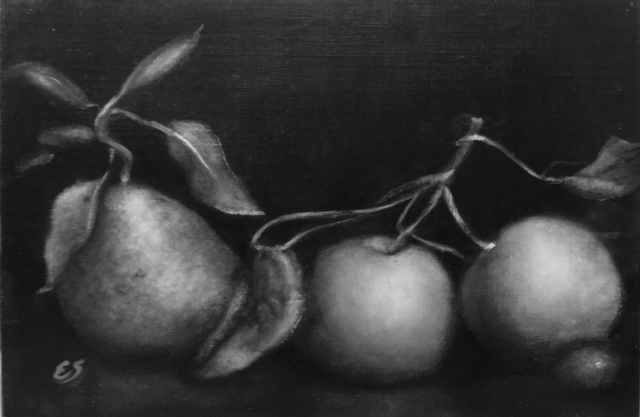 , 'Green Apples and Pear,' 2018, The Galleries at Salmagundi